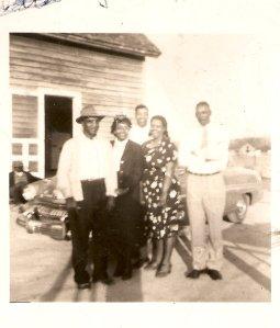 Reginald Giddens, Rose Giddens Steele, Reginald Jr.Steele, Virginia Savage, Herman Giddens
